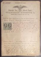 VENEZIA GIULIA AUSTRIA TRIESTE 1875 - PROTESTO DI CAMBIO  CON MARCHE DA BOLLO - RARITA' - Trieste