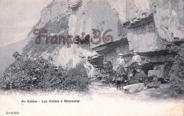(74) Au Salève - Les Voûtes à Monnetier - Anes Porteurs - Trés Bon état - 2 SCANS - Andere Gemeenten