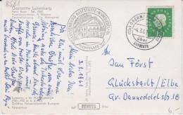 Bund Heuss Med Mi 303 PSt I Stempel Oberwarmensteinsteinach ü Bayreuth Kte 1961 - Storia Postale