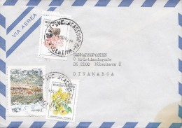 Argentina Via Aerea ACASSUSO 1989 Cover Letra To Denmark Cactus & Carnaval Stamps - Argentinien