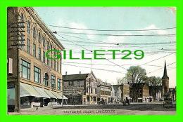 LEWISTON, ME - HAYMARKET SQUARE - ANIMATED - 3/4 BACK - - Lewiston
