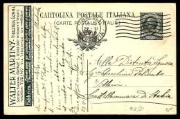 CENT 15 WALTER MARTINY  Cartolina Postale Vg Per  Castellammare Di Stabia - Interi Postali