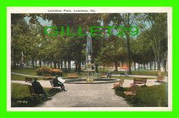 LEWISTON, ME - LEWISTON PARK - ANIMATED - WRITTEN EN 1925 - PUB. BY J. J. MULLANE - - Lewiston