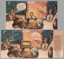 CARTON à SYSTÈME - PUBLICITÉ / ADVERTISING CARD : RADIO TESLA (r-357) - Advertising