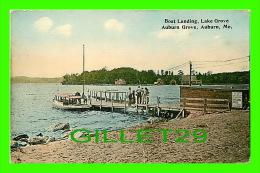 AUBURN, ME - BOAT LANDING, LAKE GROVE, AUBURN GROVE - ANIMATED - - Auburn