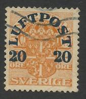 Sweden, 20 O. On 2 O. 1920, Sc # C2, Mi # 139X, Used