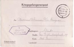 """25-3-1941 Kriegsgefangenenpost Von STALAG XI B Geprüft : """"STALAG XI B 3"""" Nach Gent - Documents"""