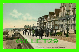 SEAFORD, UK - ESPLANADE, LOOKING WEST - ANIMATED - NEW COLOUR VARNISHED POST CARDS - - Autres