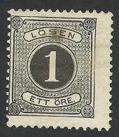 Sweden, 1 O. 1880, Sc # J12, Mi # 1B, MH - Postage Due