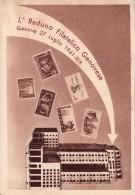 STORIA POSTALE-I°RADUNO FILATELICO GENOVESE-GENOVA 27 LUGLIO 1941-UNIONE FASCISTA- 2 SCAN - Eventi E Commemorazioni