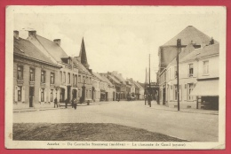 Asse - De Gentsche Steenweg ( midden ) - 1938 ( verso zien )