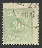Sweden, 30 O. 1877, Sc # J20, Mi # 8B, Used - Postage Due