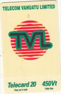 VANUATU - Telecom Vanuatu Prepaid Card 450 Vt, Exp.date 31/12/06, Used - Vanuatu