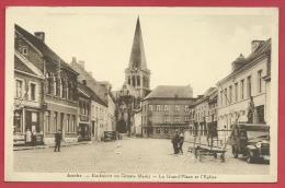 Asse - Kerkzicht en Groote Markt - Geanimeerd ( verso zien )