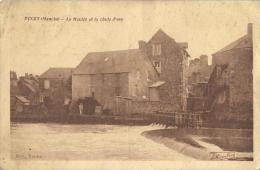 14 - CPA - DUCEY - Le Moulin Et La Chute D'Eau - 1928 -  (noir & Blanc) - Ducey