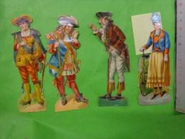 Lot De  Decoupis -personnage A Identifier--(tete Abimee Pour Celle Qui A Un Ganbi- - Découpis
