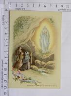 Chromo Image Religieuse, Trappe D'Aiguebelle - Notre Dame De Lourdes - L'apparition Du 5 Avril 1858 - épisode Du Cierge - Devotion Images