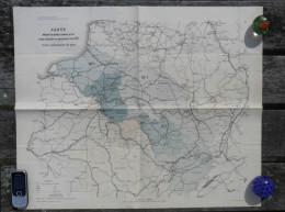 Guerre1870 CARTE ETAT MAJOR PRUSSIEN INDIQUANT LES POSITIONS OCCUPEES PAR LES ARMEES ALLEMANDES MILITAIRE BATAILLE R563 - Documents