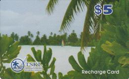KIRIBATI - TSKL Recharge Card $5, Used - Kiribati