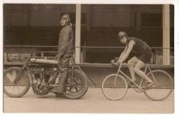 Carte Photo Sport Cyclisme Louis AUBERT Autographe Recordman Du Monde Des 100 Milles Stayer Voir Article - Cycling