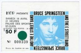 BRUCE SPRINGSTEEN - ticket (rare) de son 1er concert en France - 18/04/1981