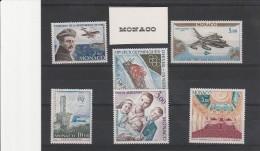 MONACO - POSTE AERIENNE N° 81 A 86 NEUF X   COTE: 18,45 € - Airmail