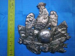 Plaque De Shako Infanterie, Louis Napoléon Bonaparte / 2nde République - Casques & Coiffures