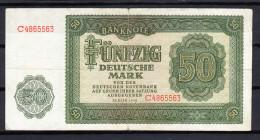 R.D.A. 1948. 50 DEUTSCHE MARK  MBC TRES BEAU VERY FINE .B697 - [ 6] 1949-1990 : GDR - German Dem. Rep.