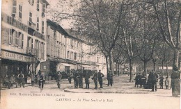 FRANCE C.P.A 81  TARN   CASTRES  La Place Soult Et Le Mail  En L´état) - Castres