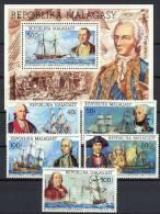 Malagasy 1975 US Bicentennial, Ships Set Of 5 + S/s MNH - Schiffe
