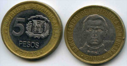 République Dominicaine Dominican Republic 5 Pesos 2008 KM 89 - Dominicaine