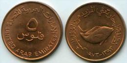 Emirats Arabes Unis United Arab Emirates 5 Fils 1393 - 1973 KM 2.1 - Emirats Arabes Unis