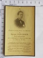 Image Religieuse -  Décès Serge SINGHER - Accident Ferrovière, Catastrophe De St Benoit Le 25 Mars 1925 - Andachtsbilder