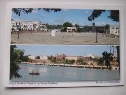 H79 Republica Dominicana - Plaza Espana - Puerto De Santo Domingo - Cartes Postales