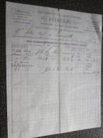 Toulouse 15 Sep 1883 Facture à En-tête Commerciale Illustrée Entrepôt De Clouterie Peyreigne Fil De Fer Semences - France