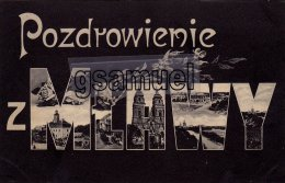 Europe > Pologne -  Pozdrowienie z Mtawy – (Marcophilie). - (voir scan).