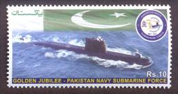 PAKISTAN MNH 2014 GOLDEN JUBILEE NAVY SUBMARINE FORCE FLAG MILITARY MILITARIA ARMED SHIP SEA DEFENSE - Pakistan