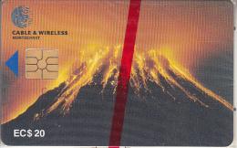 MONTSERRAT ISL. - Soufriere Hills Volcano, First Chip Issue, Chip GEM5, EC$20, Mint - Montserrat
