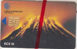 MONTSERRAT ISL. - Soufriere Hills Volcano, First Chip Issue, Chip GEM5, EC$10, Mint - Montserrat