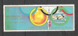 Ajman Natation   JO Munich 1972    **  MNH - Swimming