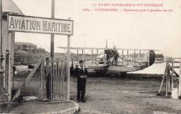 CPA  -  CHERBOURG  (50)   AVIATION MARITIME  - Hydravion Pret à Prendre Son Vol - Cherbourg