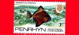 PENRHYN - Northern Cook Islands - Nuovo - 1974 - Pesci - Fish - Monodactylus Argenteus - 1 C - Penrhyn