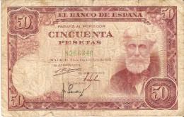 BILLETE DE ESPAÑA DE 50 PTAS DEL 31/12/1951 SIN SERIE  CALIDAD RC  (BANKNOTE) - [ 3] 1936-1975 : Régimen De Franco