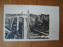 Fotokarte Gesprengte Eisenbahnbrücke , Gelaufen 1917 ! - War 1914-18