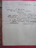 1902  Zafiripoulos Zarifi Ngt à Marseille Candelou Port La Nouvelle Nous Avons Retiré De Votre Estimé. - Manuscripts