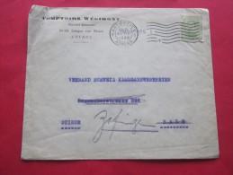 31 Mars 1920 Antwerpen Anvers Belgique Belgie Lettre Letter Cover à Entête Comptoirs Wégimont  ->Bale  Suisse - Postmarks - Lines: Distributions