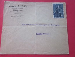 1930 Usine Aubry  à GOSSELIES Belgique Belgie Lettre Letter Cover à En-tête -> Bern Berne  Suisse - Postmarks - Lines: Distributions