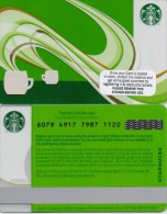 GIFT CARD IRELAND-STARBUCKS COFFE 2014-6079XXXXXXXX- VERY NICE - Gift Cards