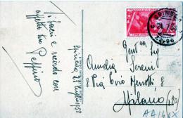 """CARTOLINA POSTALE -FRASE DI FOGAZZERO--SPINEDA (CREMONA)-24-7-1933-REGNO -CENT.20 """"BALILLA"""""""