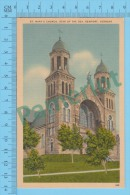 US Vermont VT ( St Mary´s Church Star Of The Sea Newport,  CPSM    Linen Postcard ) Recto/Verso - Etats-Unis